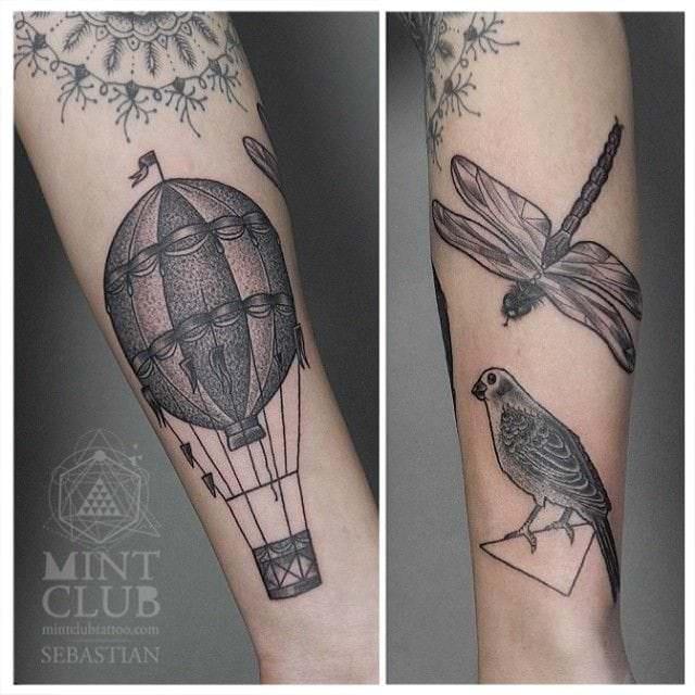 mongolfiera stilizzata